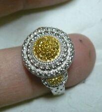 Yellow Diamond Ring Size 10  51 diamonds .48tcw MSRP$703