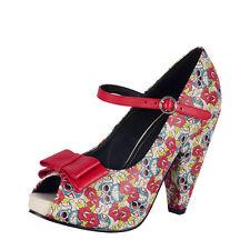 TUK Peep Toe Mary Janes Rocket Heel Ladies Size UK4/EU37 A8082L