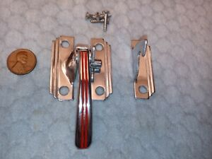 Hoosier Kitchen Cabinet Door Latch Lever Red Lines LH NOS