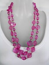 SALE  Fuchsia Pink XL Beaded Necklace was $24 NOW $20