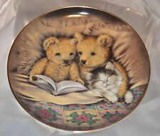 Franklin Mint Heirloom Recommendation Bedtime Story Plate - Two bears JH 7323