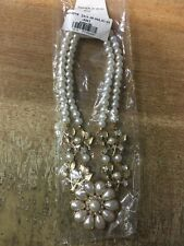 New Fashion Women Pearl like Statement Necklace. Brand new in unopened packaging