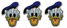 """Disney's Donald Duck Face Shot 2 3/4"""" Tall Set of 3 Patches"""
