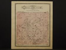 Minnesota Douglas County Map 1912 Lund Township, Lake Cristina, Ira, Anka N5#19