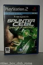 SPLINTER CELL CHAOS THEORY GIOCO USATO SONY PS2 EDIZIONE ITALIANA MC3 36484