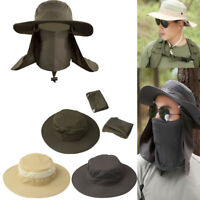 Mens Hiking Fishing Hat Outdoor Sport Sun Neck Face Cap Wide Brim