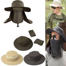 c2322224064d8 Mens Hiking Fishing Hat Outdoor Sport Sun Protection Neck Face Cap Wide Brim