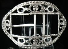 Georgian Antique Solid Silver Buckles