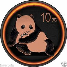 Panda Eclipse of the Sun 10 Yuan 1oz Silver Ruthenium Rose Gold Coin China 2015