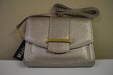 New Gusseted Crossbody Bag Purse HandBag Pewter