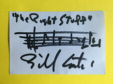 "BILL CONTI  SIGNED AUTOGRAPHED MUSICAL QUOTE  "" The Right Stuff "" From the Film"