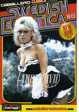 autographed AMBER LYNN AMBER SWEDISH EROTICA #80  DVD COVER w/ PIC PROOF!