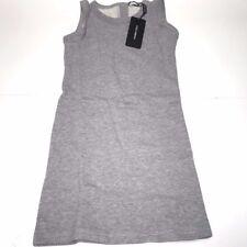 D&G New Girls Kids GREY SLEEVELESS COTTON DRESS Sz: 8 RTL $175 P602 L5JD43 G79KP