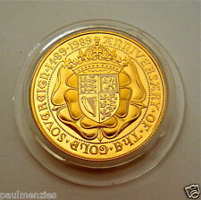 1989 monnaie royale st george 22K solide or preuve demi souverain pièce sans boîte ou coa