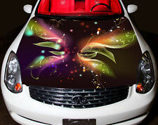 Abstract Flowers Full Color Graphic Adhesive Vinyl Sticker Fit Car Bonnet #025