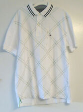 Tommy Hilfiger Mens Polo White with Blue Accents Shirt Size Large NWT
