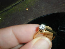 New Old Stock Diamond Engagement Ring 14kt Gold .25 carat 6 Prongs High Set