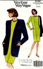Vintage Vogue Misses' Jacket and Dress Pattern 8159 Size 8-12