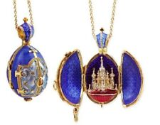 Treasures from Russia Sterling Silver Blue Enamel St Basil Cathedral Egg Pendant