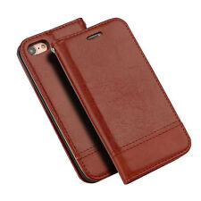 Plain Synthetic Leather Cases & Covers for Apple Phones