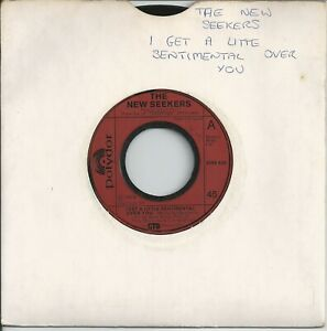 """The New Seekers - I Get A Little Sentimental Over You 7"""" Vinyl Single 1974"""