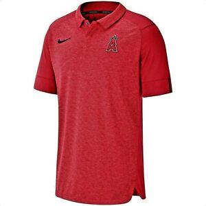 AUTHENTIC MLB Los Angeles Angels Nike Dri-Fit Coaches Team Logo Elite Polo $75