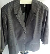 CHICO'S Blazer and Bermuda Shorts Suit Brown/Ivory SIZE 3 NWT