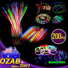 200 Color Mixed Glow Sticks Bracelets Light Party glowsticks glow in the dark
