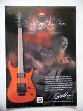 PUBLICITE-ADVERTISING :  Guitare GODIN Redline 3  02/2011 Stef English,Unexpect