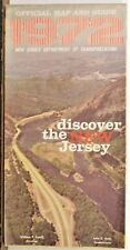 1972 New Jersey vintage official road map travel guide brochure b