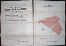 1898 FARM SALE WORRALL BRADFIELD OUGHTIBRIDGE MAP PLAN PROPERTY AUCTION DETAILS