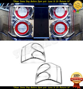 Fits 2002-10 Land Rover Range Rover L322 HSE Chrome Tail Light Bezel No Glass
