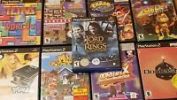 Lot of 9 Playstation 2 Games PS2 Tetris, Lord of the Rings, Bombasitic More