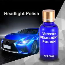 Headlight Lens Restorer Repair Headlamp Liquid Polish Cleaner Vehicle Kit 30ML
