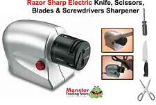 AUSSIE SELLER BRAND NEW ELECTRIC KNIFE SHARPENER + SCISSORS,BLADES,SCREWDRIVERS