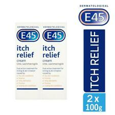 2 x E45 Dermatological Itch Relief Cream Treats Dry,Itchy Skin & Eczema 100g