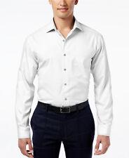 NWT $95 ALFANI Men REGULAR-FIT STRETCH WHITE LONG-SLEEVE DRESS SHIRT 16.5 34/35