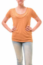 Free People Women's Unique Phoebe Double Layer Tee Mustard Size XS RRP £43 BCF77