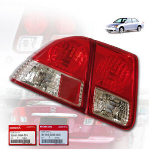 HONDA CIVIC DIMENSION ES 2001-2005 LAMP REAR TAIL LIGHT LEFT SIDE CLEAR RED ABS