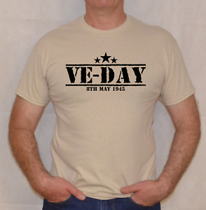 VE-DAY, 8th MAY 1945,ARMY,VICTORY IN EUROPE, WW2,SAND , T SHIRT