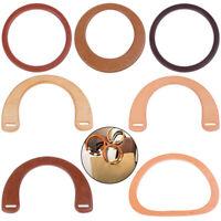 Wooden Resin Handle Replacement DIY Handbag Purse Frame Bag Accessories Tool HF