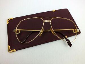 vintage Cartier Santos Brille Paris Gr. 56-14 im Lederetui, occhiali