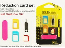 5-in-1 Nano SIM Card to Micro/Standard SIM Card Adapter Kit - METAL