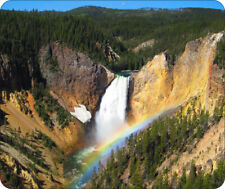 Yellowstone Waterfalls Non-slip Mouse Pad