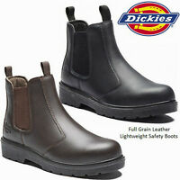 MENS DICKIES DEALER WATERPROOF CHELSEA STEEL TOE CAP SAFETY WORK BOOTS SHOES SZ