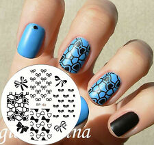 Nagel Schablone BORN PRETTY Nail Art Stamp Stamping Template Plates BP 62