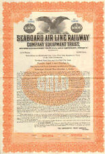 Seaboard Air Line Railway Company >1925 $1000 Specimen Series Z bond certificate
