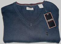 IZOD V-Neck Sweater, Navy BLUE, Men's Medium, Quality, 100% Cotton--SHIPS FREE