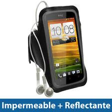 Negro Brazalete Armband para HTC One S Android Sport Deporte Funda 1 uno