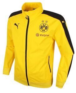2015-16 DORTMUND Stadium JACKET Yellow BVB Trikot Shirt PUMA  15-16